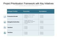 Project Prioritization Framework With Key Initiatives Ppt PowerPoint Presentation Outline Designs PDF