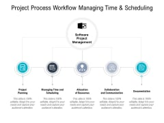 Project Process Workflow Managing Time And Scheduling Ppt PowerPoint Presentation Pictures Templates