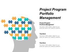 Project Program Portfolio Management Ppt PowerPoint Presentation Ideas Smartart Cpb