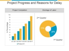 Project Progress And Reasons For Delay Ppt PowerPoint Presentation Gallery