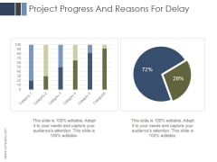 Project Progress And Reasons For Delay Ppt PowerPoint Presentation Layout