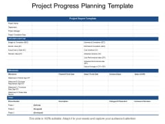 Project Progress Planning Template Ppt PowerPoint Presentation Icon Guide