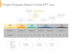 Project Progress Report Format Ppt Icon