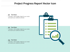 Project Progress Report Vector Icon Ppt PowerPoint Presentation Gallery Graphics PDF