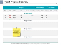 Project Progress Summary Ppt PowerPoint Presentation File Formats
