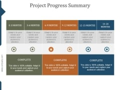 Project Progress Summary Ppt PowerPoint Presentation Infographic Template