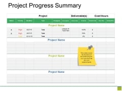 Project Progress Summary Ppt PowerPoint Presentation Slides Brochure