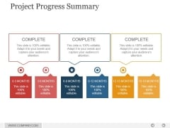 Project Progress Summary Ppt PowerPoint Presentation Styles