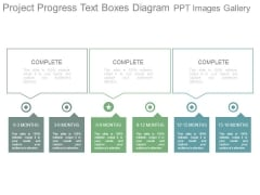 Project Progress Text Boxes Diagram Ppt Images Gallery