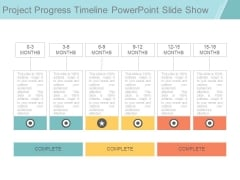 Project Progress Timeline Powerpoint Slide Show