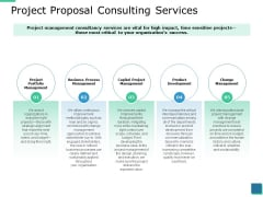Project Proposal Consulting Services Ppt PowerPoint Presentation Icon Format