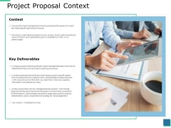 Project Proposal Context Ppt PowerPoint Presentation Infographic Template Slide Download