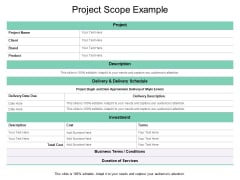 Project Proposal Outline Template Ppt PowerPoint Presentation Icon Ideas