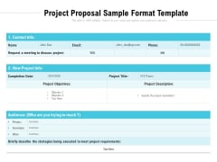 Project Proposal Sample Format Template Ppt PowerPoint Presentation File Infographic Template