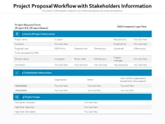 Project Proposal Workflow With Stakeholders Inforrmation Ppt PowerPoint Presentation File Portfolio PDF