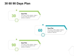 Project Quality Management Plan 30 60 90 Days Plan Ppt Ideas Summary PDF