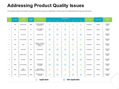 Project Quality Management Plan Addressing Product Quality Issues Demonstration PDF