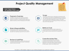 Project Quality Management Ppt PowerPoint Presentation Model Graphics Tutorials