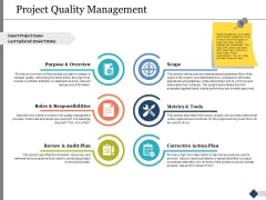 Project Quality Management Ppt PowerPoint Presentation Portfolio Show
