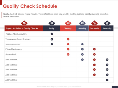 Project Quality Planning And Controlling Quality Check Schedule Ppt Pictures Graphics PDF