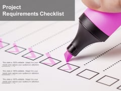 Project Requirements Checklist Ppt PowerPoint Presentation File Information
