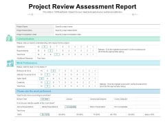 Project Review Assessment Report Ppt PowerPoint Presentation Gallery Graphics Download PDF