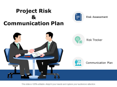 Project Risk And Communication Plan Ppt PowerPoint Presentation Ideas Example Introduction