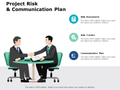Project Risk And Communication Plan Ppt PowerPoint Presentation Professional Show