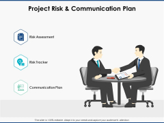Project Risk And Communication Plan Ppt PowerPoint Presentation Slides Icons