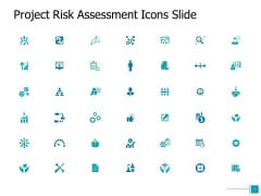 Project Risk Assessment Icons Slide Growth Ppt Powerpoint Presentation Show Brochure