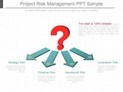 Project Risk Management Ppt Sample