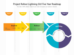 Project Rollout Lightning GUI Five Year Roadmap Infographics