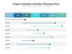 Project Schedule Activities Planning Chart Ppt PowerPoint Presentation Ideas Smartart