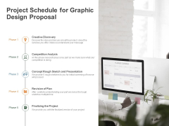 Project Schedule For Graphic Design Proposal Ppt PowerPoint Presentation Ideas Designs Download