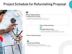 Project Schedule For Refurnishing Proposal Ppt PowerPoint Presentation Ideas Themes