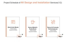 Project Schedule Of AV Design And Installation Services Performances Ppt PowerPoint Presentation Show Demonstration