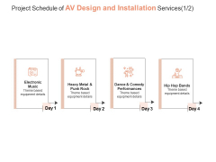 Project Schedule Of AV Design And Installation Services Process Ppt PowerPoint Presentation Gallery Show