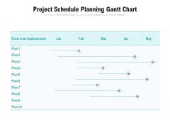 Project Schedule Planning Gantt Chart Ppt PowerPoint Presentation Layouts Visuals