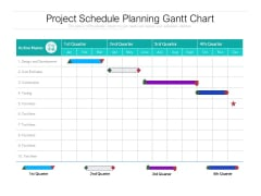 Project Schedule Planning Gantt Chart Ppt PowerPoint Presentation Pictures Guide