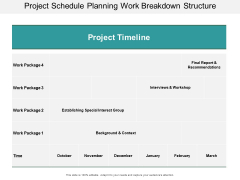Project Schedule Planning Work Breakdown Structure Ppt PowerPoint Presentation Model Clipart Images
