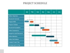 Project Schedule Ppt PowerPoint Presentation Files