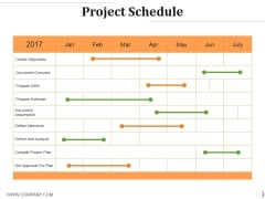 Project Schedule Ppt PowerPoint Presentation Icon Rules