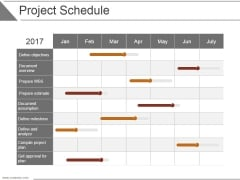 Project Schedule Ppt PowerPoint Presentation Ideas