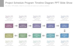 Project Schedule Program Timeline Diagram Ppt Slide Show