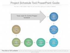 Project Schedule Tool Powerpoint Guide