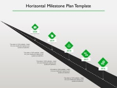 Project Scheduling Timeline Horizontal Milestone Plan Template Ppt Inspiration Example Topics PDF