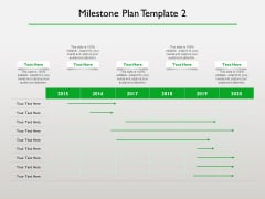 Project Scheduling Timeline Milestone Plan Template 2015 To 2020 Ppt Professional Slides PDF