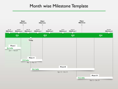 Project Scheduling Timeline Month Wise Milestone Template Ppt Infographics Background Images PDF