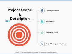 Project Scope And Description Marketing Ppt PowerPoint Presentation Model Templates