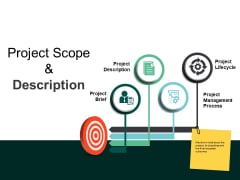 Project Scope And Description Ppt PowerPoint Presentation Pictures Templates